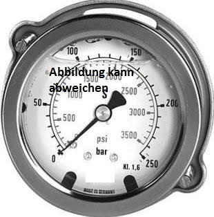 Manometer NG 63 / 0-250bar / G1/4'' Unten